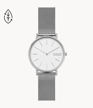 Signatur Silver-Tone Steel-Mesh Watch