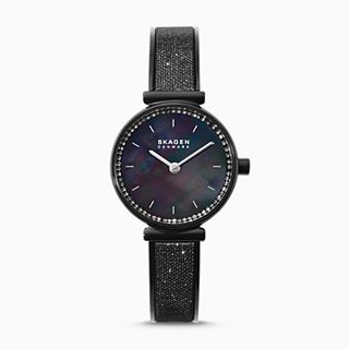 Annelie Black Glitz Mesh Bangle Watch