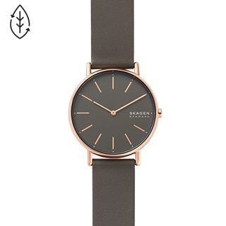 Signatur Charcoal Leather Watch