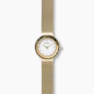 Leonora Gold-Tone Steel-Mesh Watch