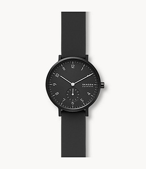 Aaren Kulor Black Silicone 36mm Watch