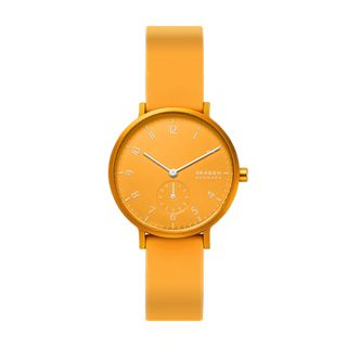 Aaren Kulor Yellow Silicone 36mm Watch