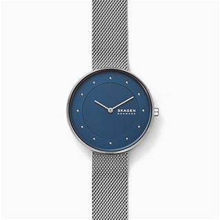 Gitte Silver-Tone Steel-Mesh Watch