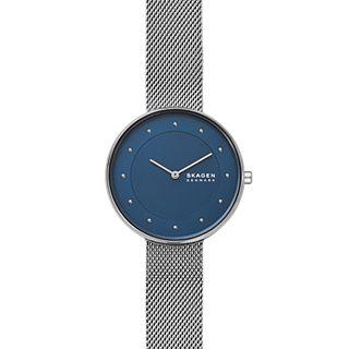 Gitte Silver-Tone Steel-Mesh Watch