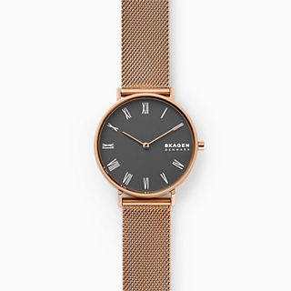 Hald Rose Gold-Tone Steel-Mesh Watch