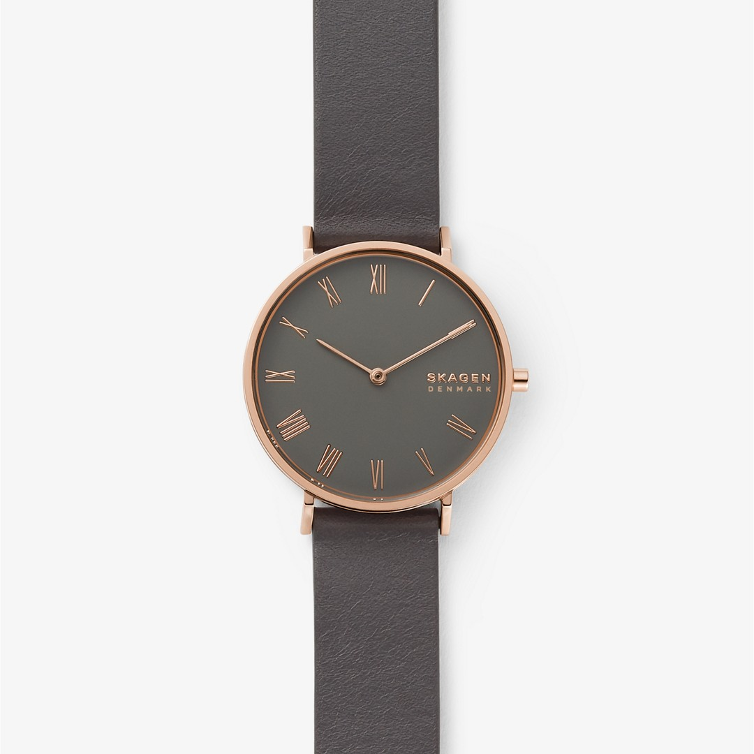 Hald Gray Leather Watch  - SKW2816