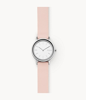 Hald Two-Hand Pink Leather Watch