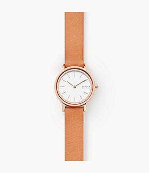Hald Two-Hand Brown Leather Watch