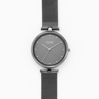 Tanja Three-Hand Gunmetal Steel-Mesh Watch