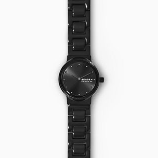 Freja Two-Hand Black Stainless Steel Watch