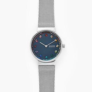Annelie Two-Hand Silver-Tone Steel-Mesh Watch