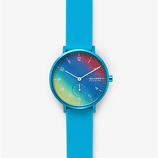 Aaren Kulor Blue Tie-Dye Silicone 36mm Watch
