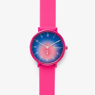 Aaren Kulor Pink Tie-Dye Silicone  36mm Watch