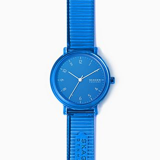 Aaren Transparent Three-Hand Blue 36mm Watch