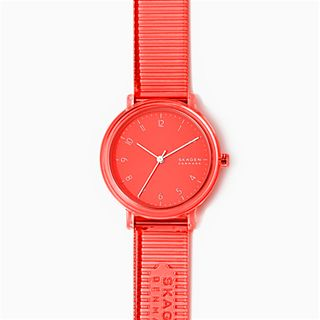 Aaren Transparent Three-Hand Coral 36mm Watch