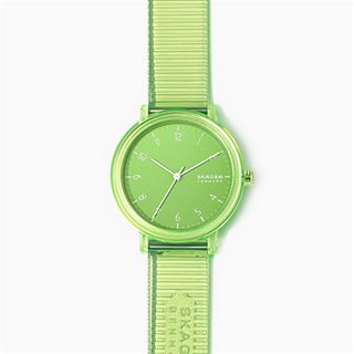 Aaren Transparent Three-Hand Green 36mm Watch