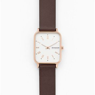 Ryle Two-Hand Brown Leather Watch