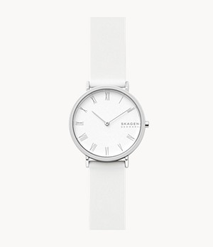 Hald Two-Hand White Silicone Watch
