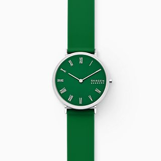 Hald Two-Hand Green Silicone Watch