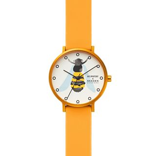 Helmstedt x Skagen Aaren Three-Hand Yellow Silicone 36mm Watch