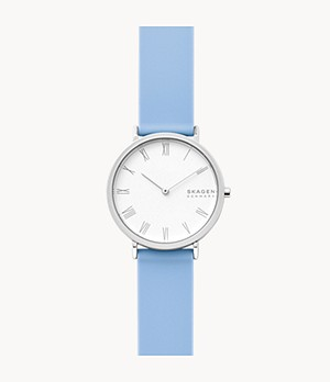 Hald Two-Hand Blue Silicone Watch