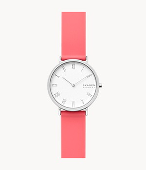 Hald Two-Hand Coral Silicone Watch
