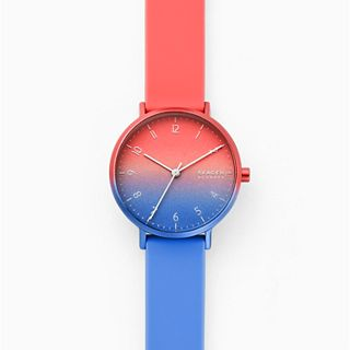 Aaren Ombre Three-Hand Multi-Coloured Silicone 36mm Watch