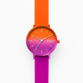 Aaren Ombre Three-Hand Multi-Colored Silicone 36mm Watch