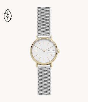 Signatur Two-Hand Silver-Tone Steel-Mesh Watch