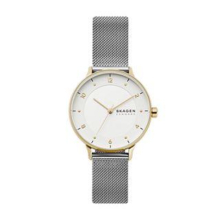 Riis Three-Hand Silver-Tone Steel-Mesh Watch