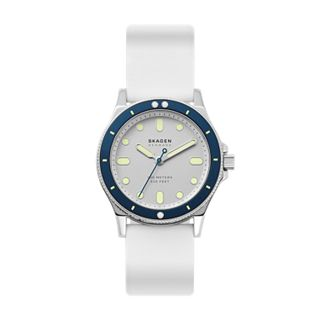 Fisk Three-Hand White Silicone Watch