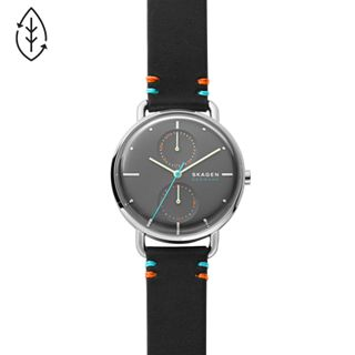 Horizont Multifunction Black Leather Watch