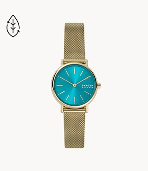 Signatur Two-Hand Gold-Tone Steel-Mesh Watch