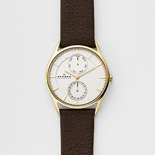Holst Dark Brown Leather Multifunction Watch