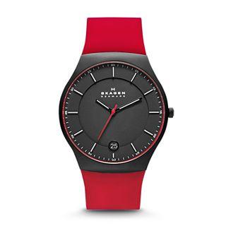 Balder Men's Silicone and Titanium Watch