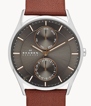Holst Brown Leather Multifunction Watch