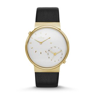 Ancher Dual-Time Leather Watch