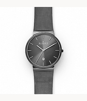 Ancher Grey Steel-Mesh Watch