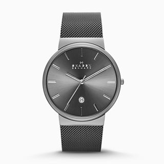 Ancher Gray Steel-Mesh Watch