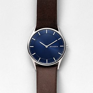 Holst Slim Dark Brown Leather Watch