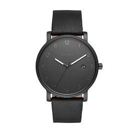 0fa469a02220 Hagen Black Leather Watch - Skagen