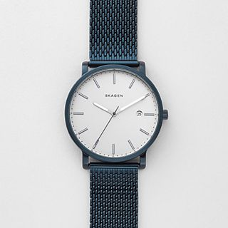 Hagen Blue Steel-Mesh Watch