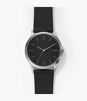 Jorn Black Leather Watch