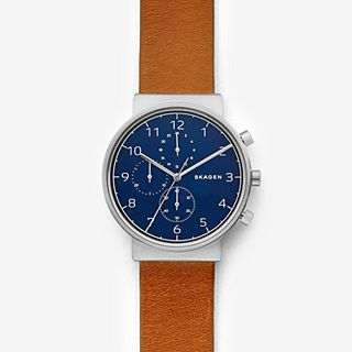 Ancher Brown Leather Chronograph