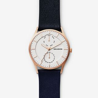 Holst Dark Blue Leather Multifunction Watch