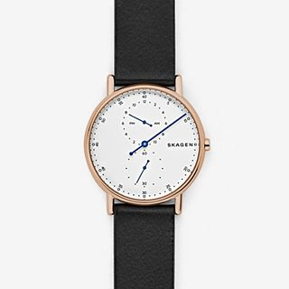 Signatur One-Hand Black Leather Watch