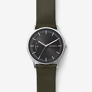 Holst Green Leather Day Date Watch