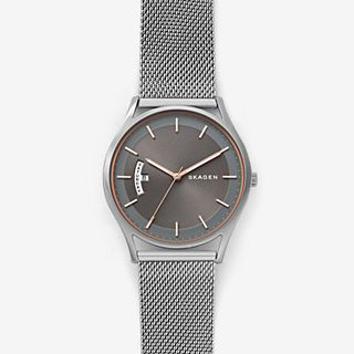 Holst Steel-Mesh Day Date Watch