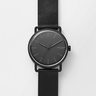Falster Automatic Black Leather Watch