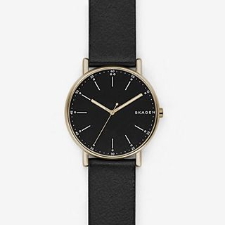 Signatur Black Leather Watch